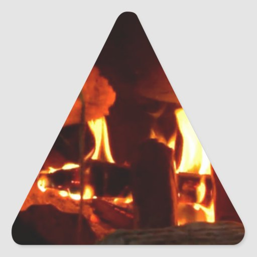 FIRE : Fireplace Hearth Triangle Stickers