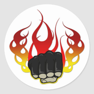 Fire fist classic round sticker