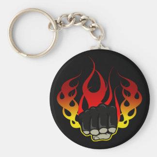 Fire fist keychain