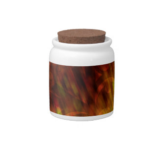 Fire Flakes Candy Jar