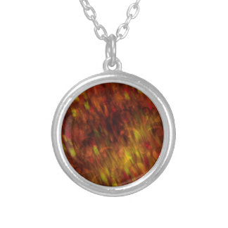 Fire Flakes Silver Plated Necklace