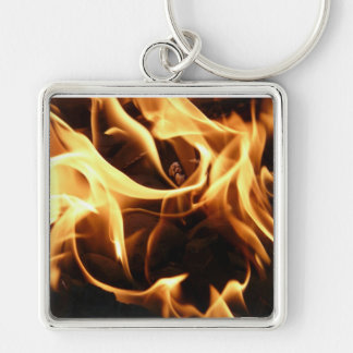 fire, flame, barbecue, charcoal, carbon, hot, burn keychain