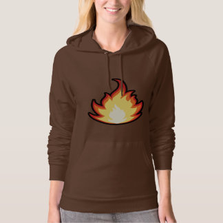 Fire Flame; Cute Hooded Pullover