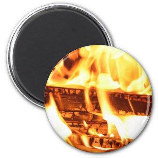 Fire flame design magnet