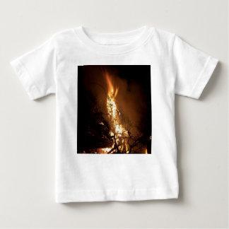Fire flame man shape burning bonfire picture baby T-Shirt