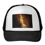 Fire flame man shape burning bonfire picture hat