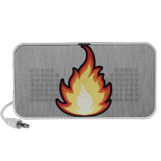 Fire Flame; Metal-look Notebook Speakers