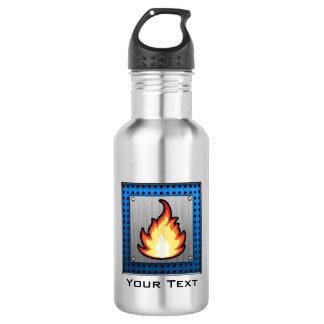 Fire Flame; Metal-look 18oz Water Bottle