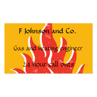 Fire, flame or heat themed business card