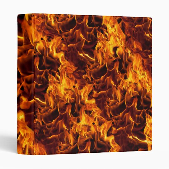 Fire / Flame Pattern Background 3 Ring Binder