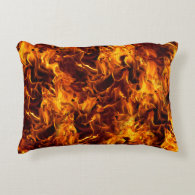 Fire / Flame Pattern Background Accent Pillow