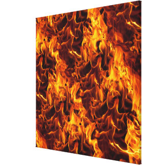 Fire / Flame Pattern Background Canvas Print
