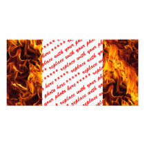 Fire / Flame Pattern Background Card