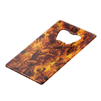 Fire / Flame Pattern Background Credit Card Bottle Opener