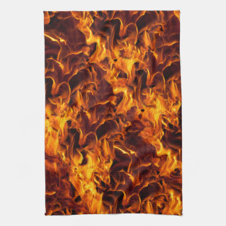 Fire / Flame Pattern Background Kitchen Towel
