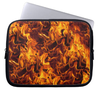 Fire / Flame Pattern Background Laptop Sleeves