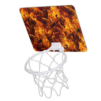 Fire / Flame Pattern Background Mini Basketball Hoops