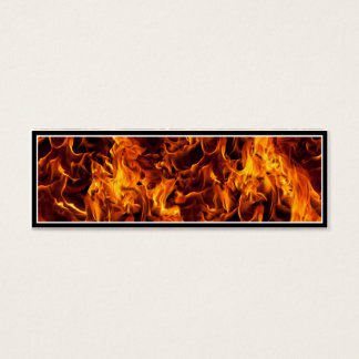 Fire / Flame Pattern Background Mini Business Card