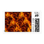 Fire / Flame Pattern Background Postage Stamps