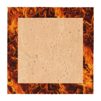 Fire / Flame Pattern Background Drink Coaster