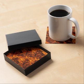 Fire / Flame Pattern Background Beverage Coaster
