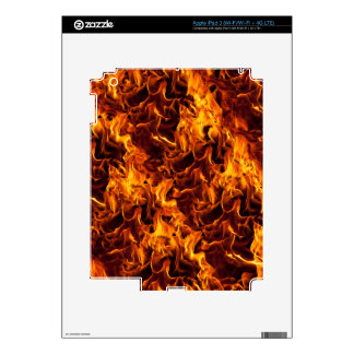 Fire / Flame Pattern Background Decals For iPad 3