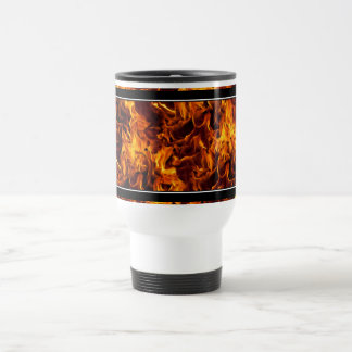Fire / Flame Pattern Background Travel Mug