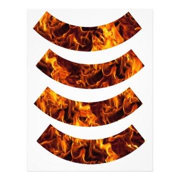 Fire / Flame Pattern Cupcake Wrapper Custom Letterhead