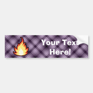 Fire Flame; Purple Bumper Sticker