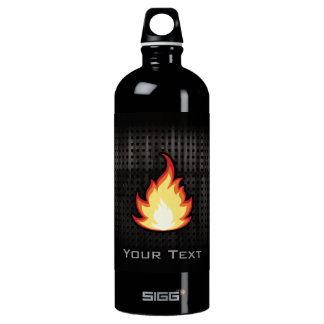 Fire Flame; Rugged Aluminum Water Bottle