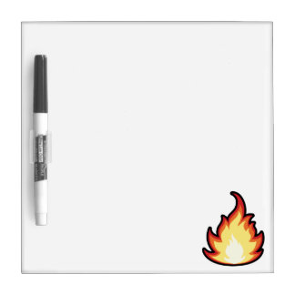 Fire Flame; Rugged Dry Erase Board