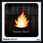 """Fire Flame; Rugged Wall Decal<br><div class=""""desc"""">Cool grunge industrial metal look cute cartoon fire flame flaming burning design. Great for gifts! Available on tee shirts, smart phone cases, mousepads, keychains, posters, cards, electronic covers, computer laptop / notebook sleeves, caps, mugs, and more! Visit our site for a custom gift case for Samsung Galaxy S3, iphone 5,...</div>"""