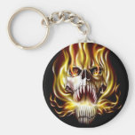 fire-flame-skull-evil keychains