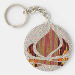 FIRE Flame symbol of SOUL POWER gifts fun festival Basic Round Button Keychain