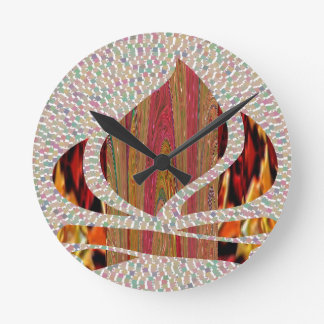 FIRE Flame symbol of SOUL POWER gifts fun festival Clock