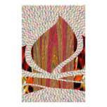 FIRE Flame symbol of SOUL POWER gifts fun festival Stationery Design