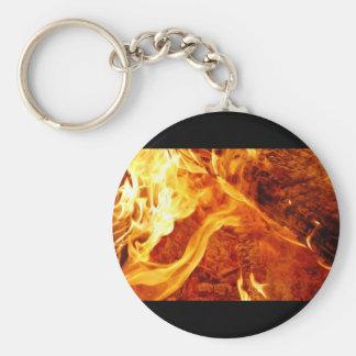 fire-flames-1 basic round button keychain