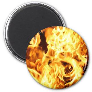 Fire & Flames Burning Fiery Gift Design Magnet