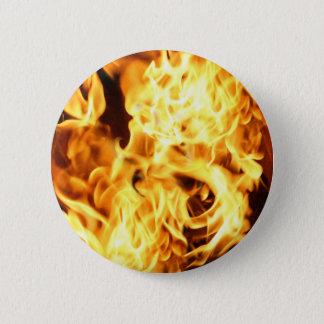 Fire & Flames Burning Fiery Gift Design Pinback Button