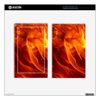 Fire & Flames Burning Fiery Gift Item Decal For Kindle Fire