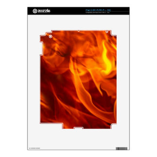 Fire & Flames Burning Fiery Gift Item Decals For iPad 2