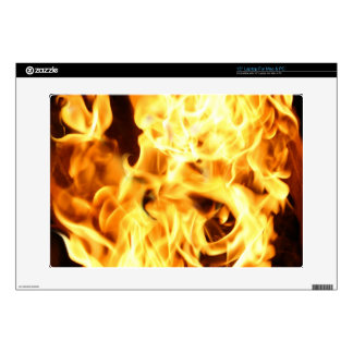Fire & Flames Burning Fiery Gift Item Decals For Laptops