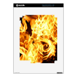 Fire & Flames Burning Fiery Gift Item Decals For The iPad 2