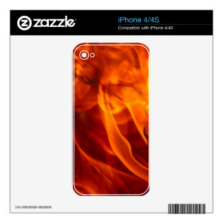 Fire & Flames Burning Fiery Gift Item iPhone 4 Decal
