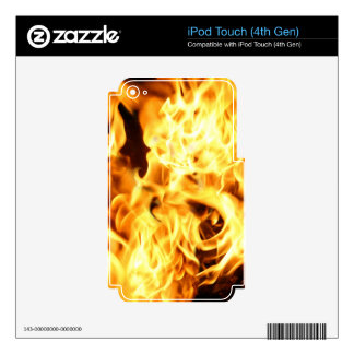 Fire & Flames Burning Fiery Gift Item iPod Touch 4G Decal