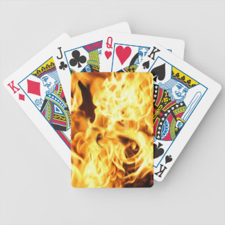 Fire & Flames Burning Fiery Gift Item Bicycle Playing Cards