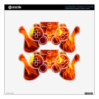 Fire & Flames Burning Fiery Gift Item PS3 Controller Decal