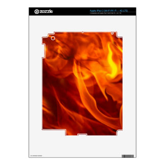 Fire & Flames Burning Fiery Gift Item Skin For iPad 3