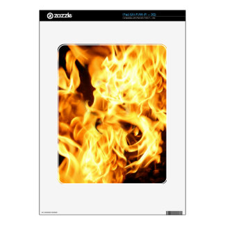 Fire & Flames Burning Fiery Gift Item Skin For The iPad