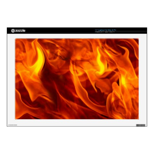 Fire & Flames Burning Fiery Gift Item Skins For Laptops